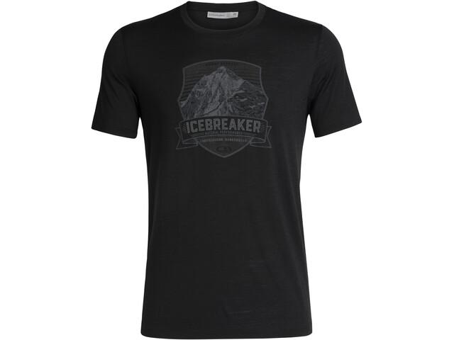 Icebreaker Tech Lite Everest Crest T-shirt Col ras-du-cou Homme, black